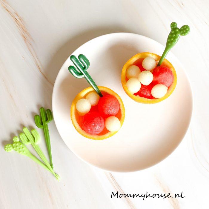 sinaasappel met meloen