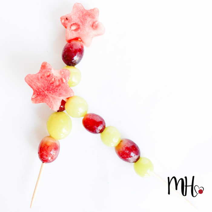 fruit stokjes verjaardag